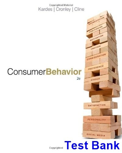 where can i download the test bank for consumer behavior 2nd edition