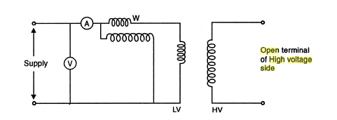why is an open circuit test in the case of transformers done with rh quora com series circuit diagram test battery tester circuit diagram