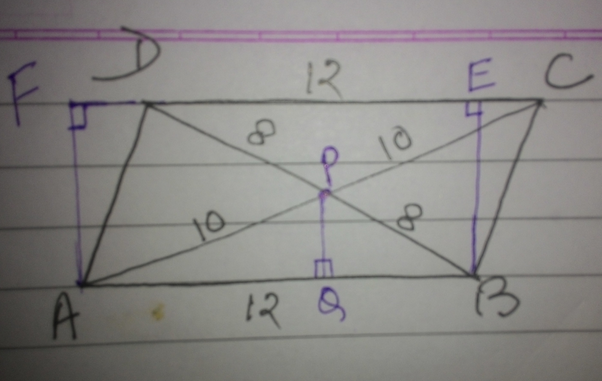 Abcd is a parallelogram with side ab12 cm its diagonal ac and bd answer wiki ccuart Image collections