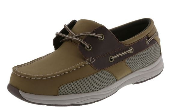 A Tan Dexter boat shoe - this is about  30 but sometimes with BoGo I get it  for  20 and stock up. I wear through these in about 6 weeks. f3a496de0b37