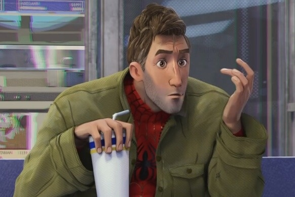 Image result for Spider-Man Into the Spider-Verse Movie Peter B Parker