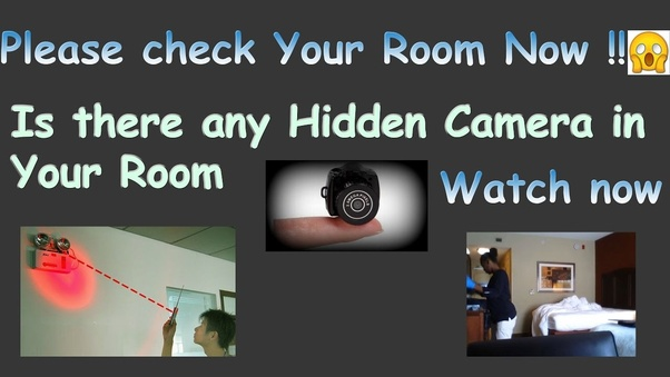 How can hidden cameras be detected? - Quora