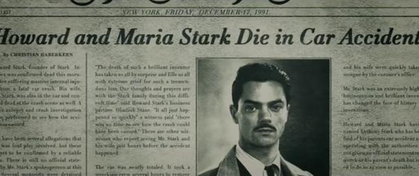 How did Captain America know Bucky had killed Tony Stark's parents