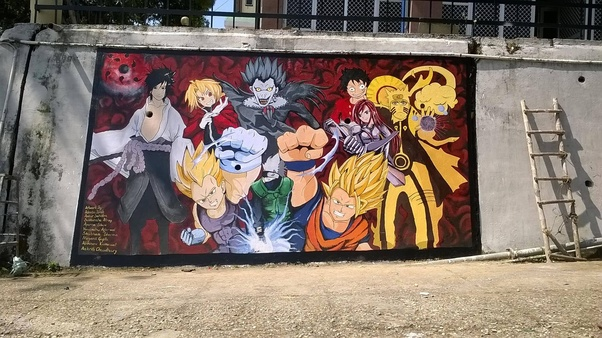 Who Made The Anime Wall Painting In Nit Hamirpur Near Auditorium