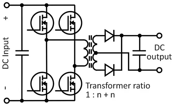what is a full bridge dc-dc converter