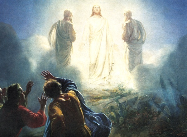 Image result for Jesus transfiguration mount