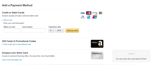 Can I use a credit card to purchase an Amazon gift card? - Quora