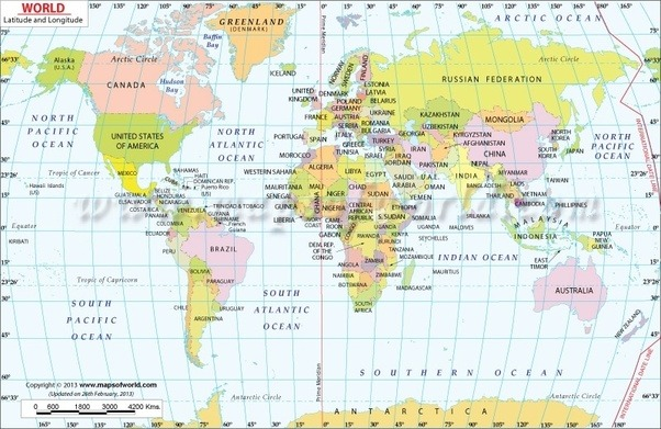 If a place lies at 75 degrees east longitude what may be the image source world map with latitude and longitude gumiabroncs Gallery