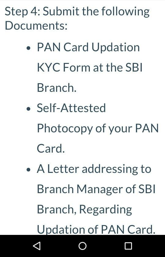 How To Add Pan Card Details To Your Sbi Nro Account Quora