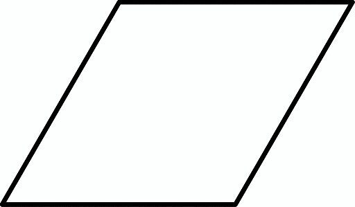 What is a rhombus shape look like