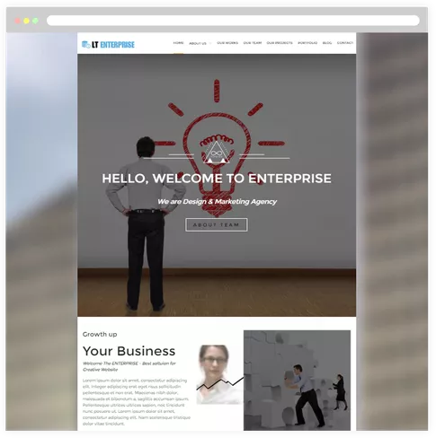 Where can i find a free wordpress responsive web template for lt enterprise free responsive image design creative wordpress theme responsive joomla and wordpress themes maxwellsz