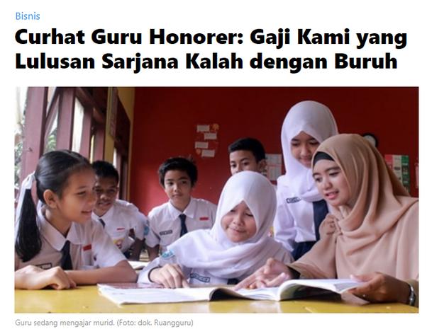 Apa yang anda lakukan terhadap kesejahteraan guru honor jika anda menjadi  presiden? - Quora