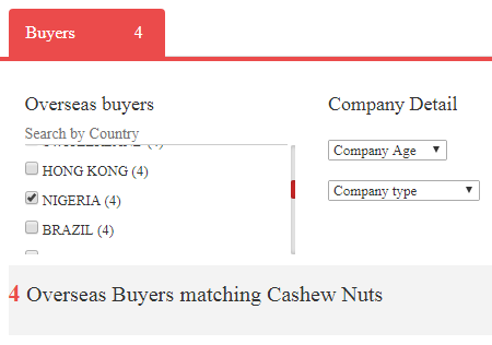 Where can I get international buyers for my cashew nuts from Nigeria