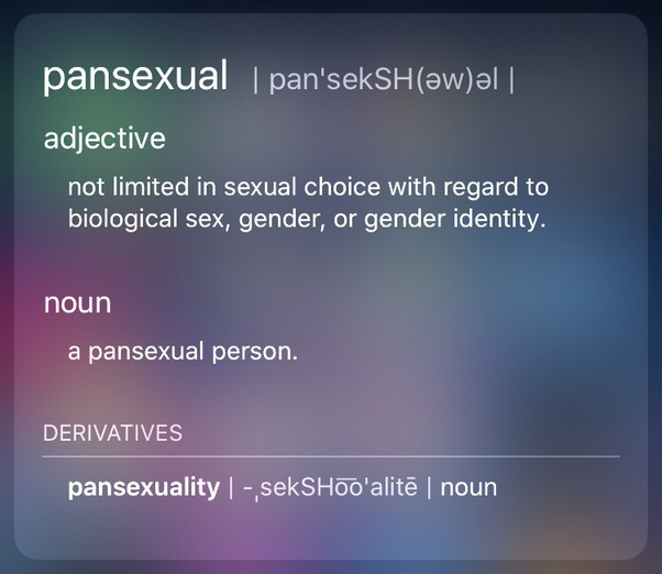 What S The Difference Between Bisexual And Pansexual I Mean They Both Mean Sexually Attracted To Men And Women Right Is The Difference More Nuanced Or Is There A Glaring Difference I M Not