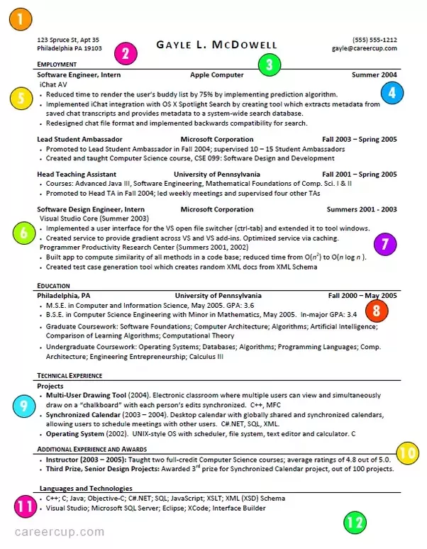 Whats wrong with my Software Engineering resume? What skills am I ...
