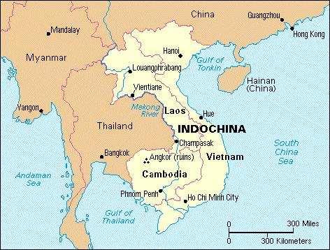 Asian region encompassing cambodia laos and vietnam