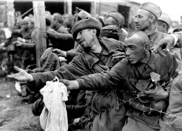 Image result for starving soviet prisoners of war in german prison camp