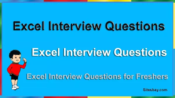 Hello Friends Here We Discuss About Only Important Excel Interview Questions