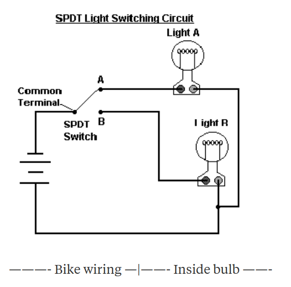 How is a double filament headlight bulb switched from high ... H Bulb Wiring Diagram Motorcycle on