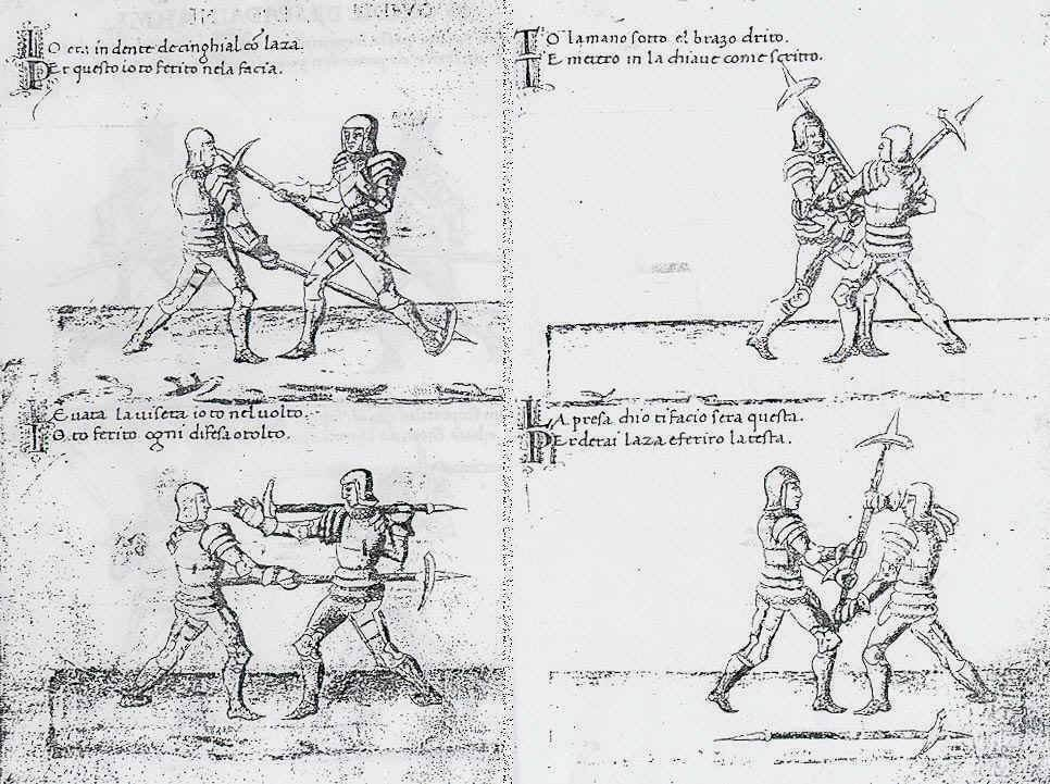 Were two-handed pole arms in the Late Medieval-Renaissance periods