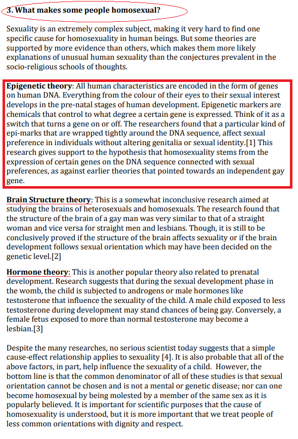 from Brennan biological discrepancy gay