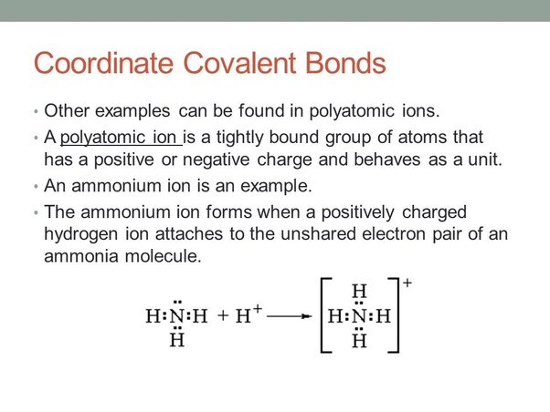 What Is The Difference Between Covalent Bond And Coordinate Covalent