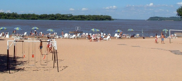 Won T Feel Like Fishing On A Creek And Most Towns Keep The Beaches Filled With Borrowed Clear Sand Below Is Pretty Nice Beach In Parana Entre Rios