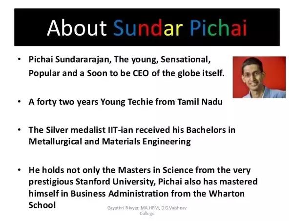 What Would The Resume Cv Of Sundar Pichai Be Like Quora