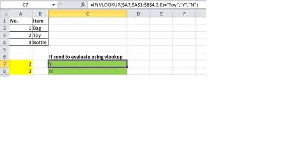 how to add vlookup and if function together