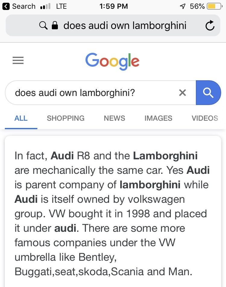 Who Owns Audi >> Is Lamborghini Owned By Audi Quora