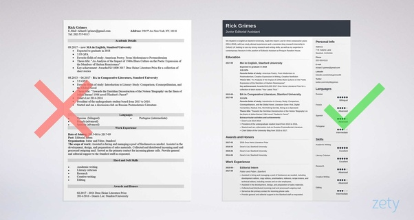 resume template by zety