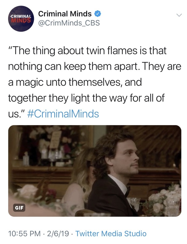 What did you think of the mention of twin flames on the TV ...