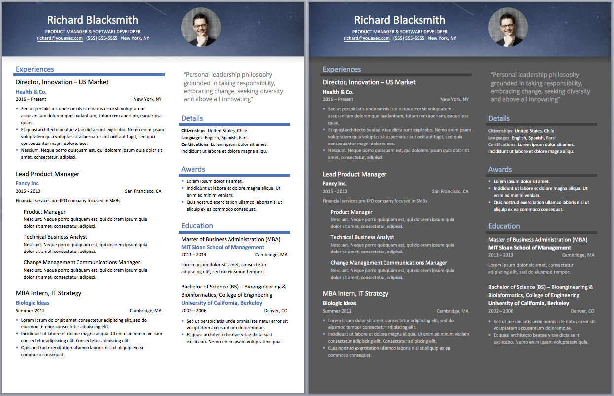 Where can I find good templates for Resumes? - Quora