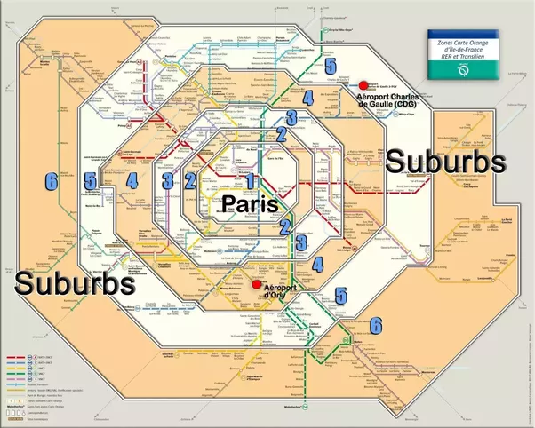 all of the common tourist destinations in paris are covered by zones 13 except the 3 major airports heres a link to a good map