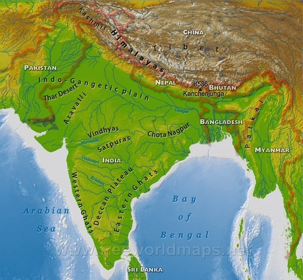 How does the geography of india affect its culture quora major rivers like ganga brahmaputra meghna meet the bay of bengal while passing through the bengal plain these rivers break down into distributaries at thecheapjerseys Image collections