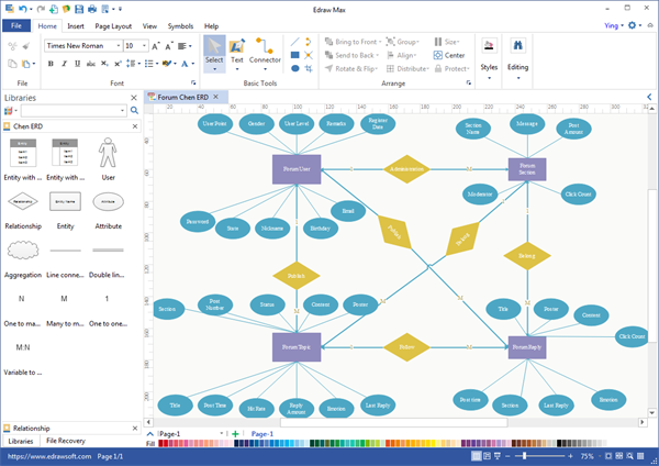What are some good applications to draw entity relationship diagrams 1 click can export your er diagram to pdf jpeg svg word visio and 17 more document formats it runs on mac windows and linux ccuart Choice Image