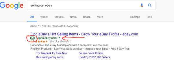 Do Ebay Sellers Use Adwords To Promote Their Seller Page Quora