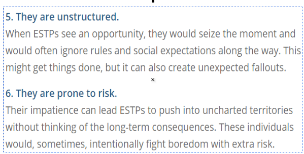 What is the most difficult aspect of being an ESTP? - Quora