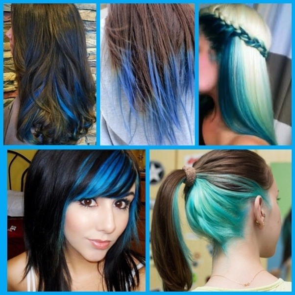 How Should I Dye My Hair Blue I Dont Want To Completely Dye It