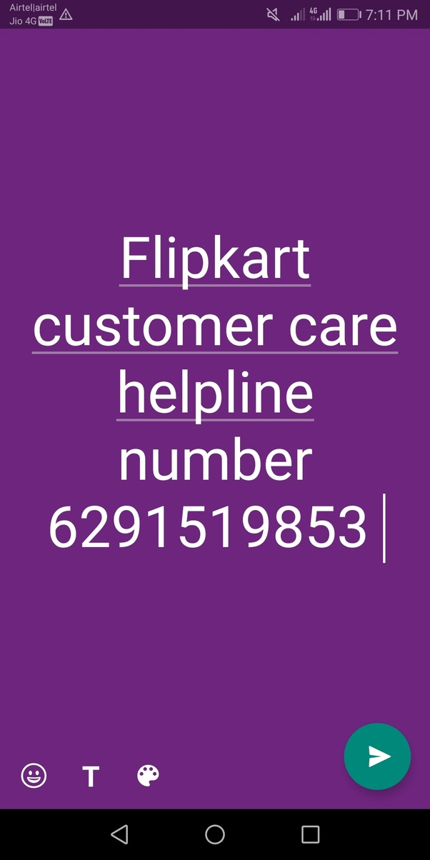 What is the point of flipkart customer care toll free number when