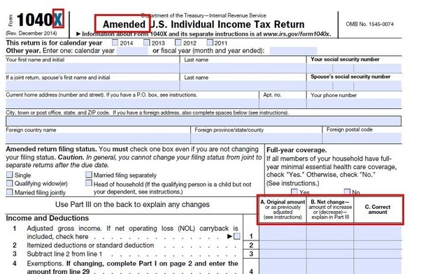 What Is An Amended Tax Return Quora