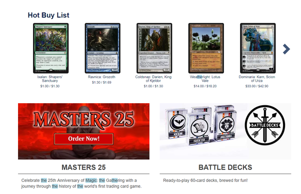 what s the best online store to buy magic the gathering cards quora