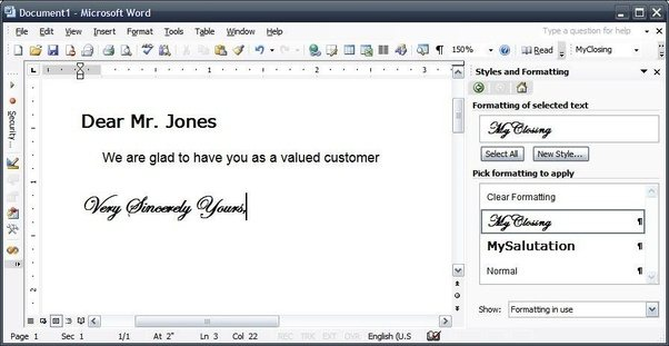 how to write french in microsoft word