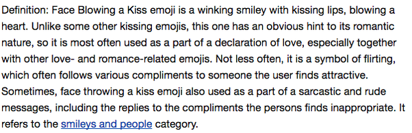 What does winking emoji mean