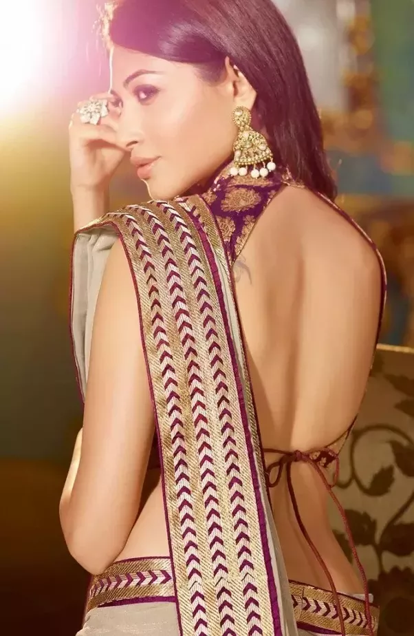 for designs saree women blouses Backless