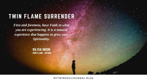 In my twin flame journey, how do I surrender and let go of