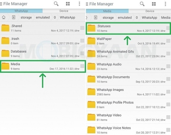 How to download photo or video from new feature of WhatsApp