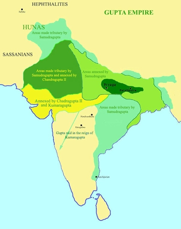 mauryan and gupta Mauryan empire starts empire founded by chandragupta maurya who overthre the nanda dynasty originated from the kingdom of magadha in the eastern side of indian subcontinent.