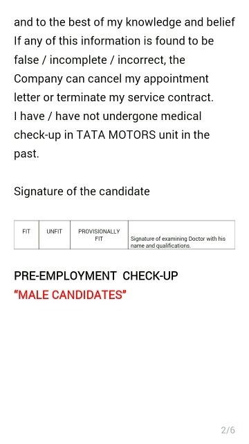 What is checked during the medical checkup for selection in the what is checked during the medical checkup for selection in the tata group of companies spiritdancerdesigns Gallery