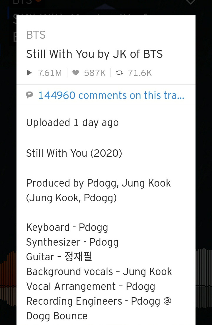 Did Jungkook BTS compose 'Still With You'   Quora